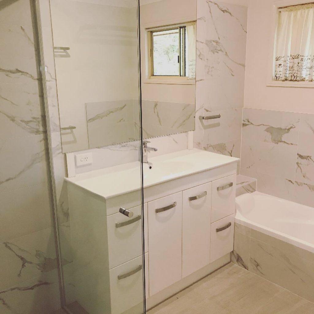 Completed Keperra bathroom renovation.
